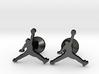 Jumpman Cufflinks 3d printed