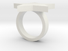 Chunky Star Ring Plastic (size M) 3d printed