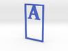 Bookmark Monogram. Initial / Letter A  3d printed