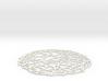 Drink coaster - Voronoi #4 (9 cm) 3d printed