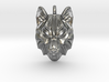 Timber Wolf Small Pendant 3d printed