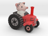 Peter the piglet and his tractor 3d printed