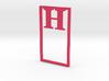 Bookmark Monogram. Initial / Letter H  3d printed