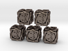 5 × Twined D6 -1/-1 counters (14 mm) Hollow 3d printed