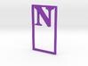 Bookmark Monogram. Initial / Letter  N  3d printed
