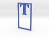 Bookmark Monogram. Initial / Letter T 3d printed