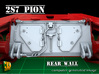 2S7 PION Rear Wall Update set (1:35) 3d printed 2S7 PION Rear Wall Updat set