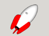 Toy Story 2 Pizza Planet Rocket Keychain 3d printed This is a colored rendering of the Rocket. Actual Product will be white.