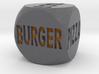 Fast Food Decision Die-Black with orange letters 3d printed