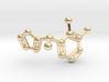 Dexmedetomidine Molecule Keychain Pendant 3d printed
