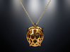 Turtle pendant 3d printed Turtle pendant is 3D printed in polished brass.