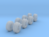 Tires With Rims Z Scale 3d printed
