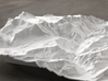 8''/20cm Oberland Peaks, Switzerland 3d printed Radiance rendering of model, looking south toward the Eiger Nordwand.
