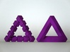 Impossible Triangle 3d printed Together with its cubed twin brother (not included)