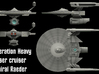 Federated Heavy Phaser Cruiser Admiral Raeder 3d printed