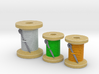 Spool tokens - Full colour (3pcs) 3d printed