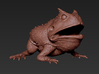 Beelzebufo middle size(color) 3d printed