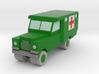 1/285 Land Rover S2 Ambulance x 1 - Army, green 3d printed 1/285 Land Rover Ambulance
