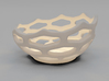 Coral style tea light bowl Ø8cm 3d printed 3D Render