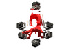 Search & Rescue 360° video harness for DJI Phantom 3d printed Exploded 360° spherical panorama setup