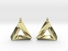 Penrose Triangle - Earrings (17mm | 1x mirrored) 3d printed