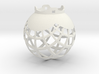 8x8 Stereographic Projection Sphere 3d printed stereographic projection sphere