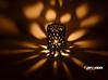 Coraline Tealight 6 Ceramic Colors 3d printed Gloss Black Ceramics - printed