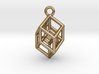 Hypercube Tesseract Pendant 3d printed