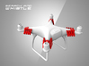 Phantom 4 - 'Search and Whistle' Drone Attachment  3d printed Phantom 4 - Drone Whistle