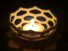 Coral style tea light bowl Ø8cm 3d printed Printed in White Strong Flexible
