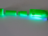 Dye Marker Bomb / Buoy  SAR3DP 3d printed UV illumination of fluorescein green PVA