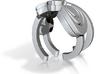 Zelda goddess swirl ring size 4 3d printed
