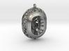 Scream-pendant-metal 3d printed