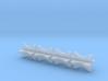 1/24 4 Inch Muffler Clamps 3d printed