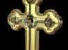 Greek Cross 2 3d printed Plain Cross Rendering in gold