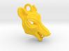 Plastic Thylacine Small Pendant 3d printed