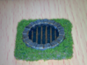 Fantasy Sewer Grate Plate 3d printed Hand painted example