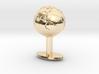 Earth Cufflink 3d printed