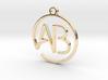 A & B Monogram Pendant 3d printed
