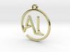 A & L Monogram Pendant 3d printed