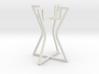 Candleholder elegant lines 3d printed