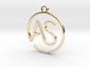 A & S Monogram Pendant 3d printed