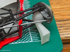 312t3 Parts 3d printed Front scoop in place on kit (Tamiya kit not included)