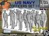 1-35 USN Officers Set1-1 3d printed