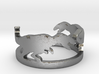Tyrannosaurus silver ring(free size) 3d printed