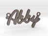 "Name Pendant - ""Abby"" 3d printed"