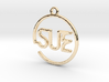 SUE First Name Pendant 3d printed