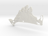 Martha's Vineyard, MA, USA, 1:250000, 5'' 3d printed