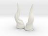 Upward Vine Horns: Small 3d printed
