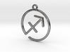 Sagittarius Zodiac Pendant 3d printed